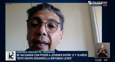 El Director de la Clínica Pediátrica C , Gustavo Giachetto, dijo que es importante vacunar a los adolescentes de entre los 12 y 18 años como anunció el presidente @LuisLacallePou